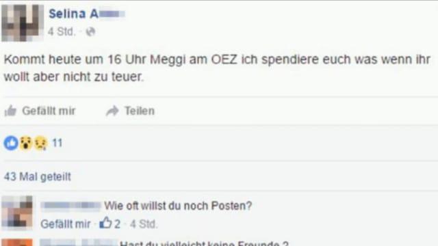 Facebook-Aufruf.