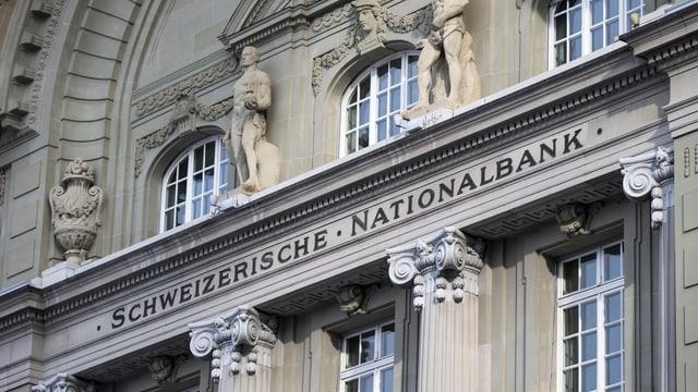 Ina part da l'edifizi da la Banca naziunala a Berna.