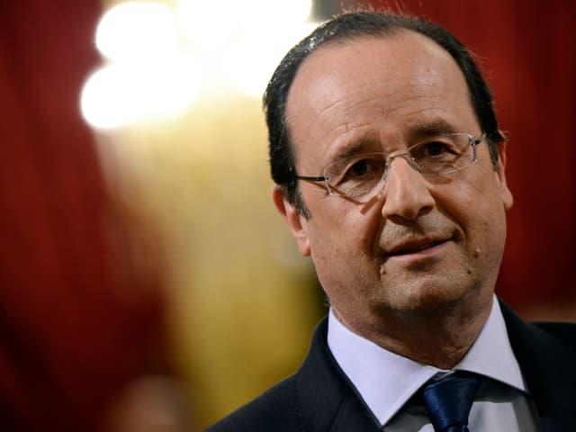 Porträt von François Hollande.