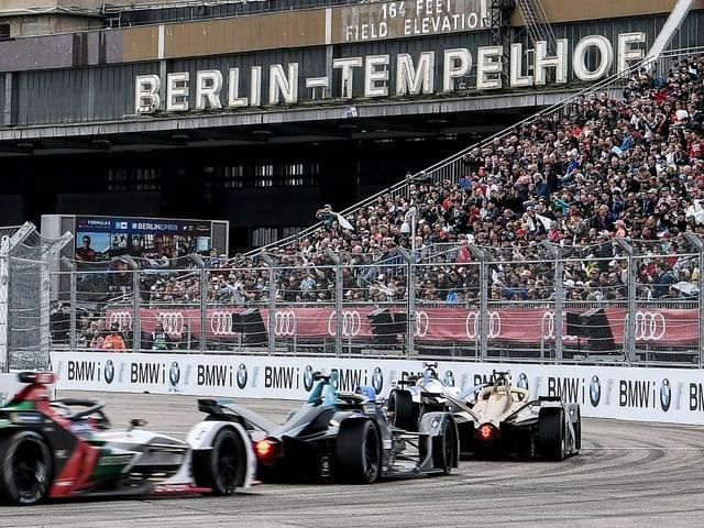 Formel-E-Boliden in Berlin