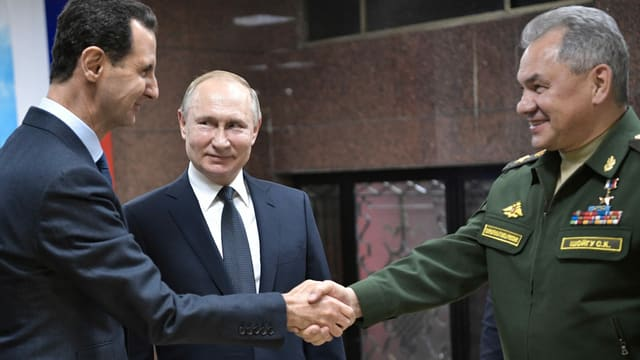 Assad, Putin, Shoigu