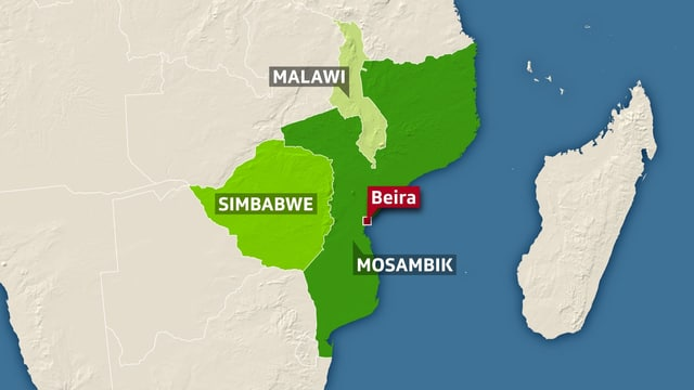 Karte Mosambik