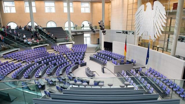 Der leere Bundestag in Deutschland.