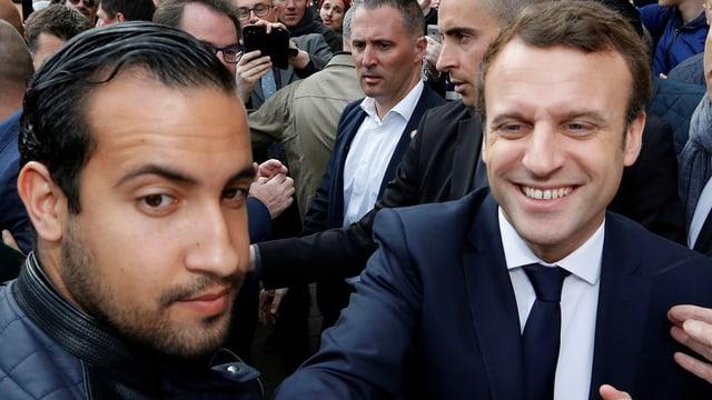 Alexandre Benalla und Emmanuel Macron