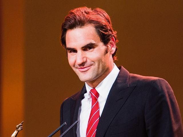 Porträt Roger Federer.