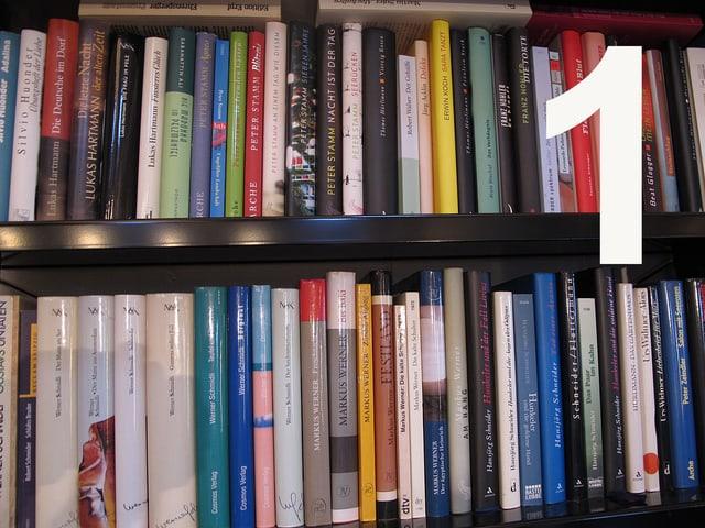 Bücher im Regal.
