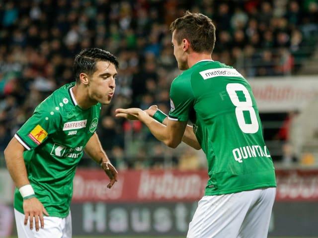 Victor Ruiz und Jordi Quintilla.