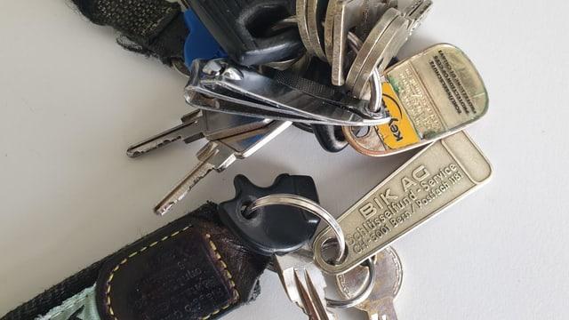 Schlüsselfundmarken