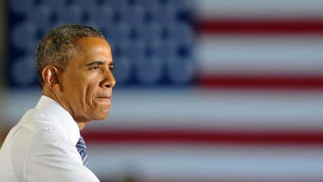 Portrait von Obama.