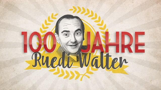 Ruedi Walters Kopf ragt zwischen der Zahl 100 und dem Wort Jahre heraus.