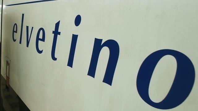 """Schriftzug """"Elvetino"""" auf Zug"""