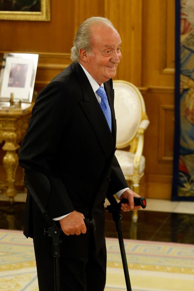 König Juan Carlos in seiner royalen Residenz – kurz vor der Hüft-Operation