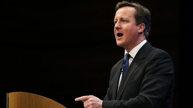 Il primminister David Cameron avant il parlament a Londra.