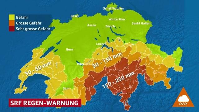SRF Regenwarnung