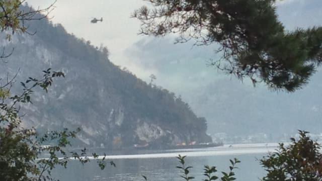 Blick auf den Lopper, wo der F/A-18 abstürzte.