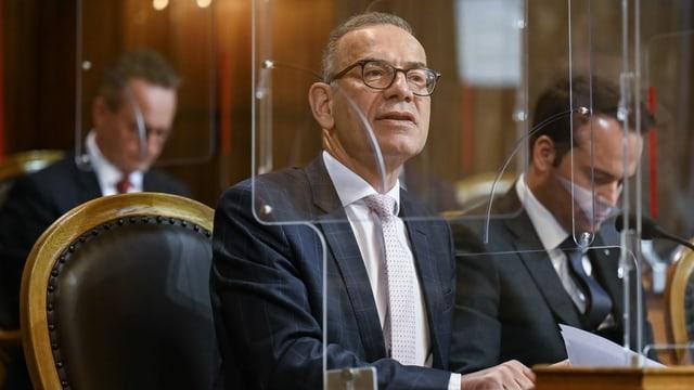 purtret da Germann, ch'è president da la cumissiun ed ha ditg Na a l'iniziativa.