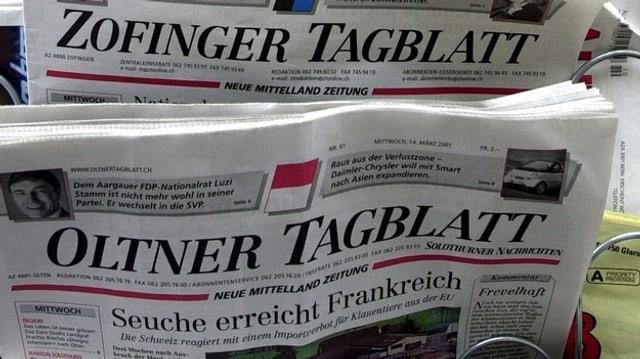 Zeitungsständer mit Oltner Tagblatt