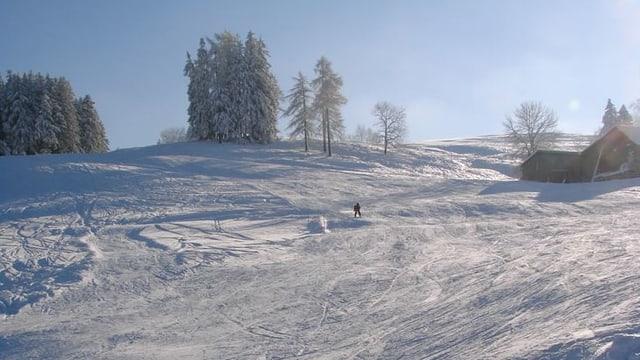 Der Skihang beim Skilift Trogen
