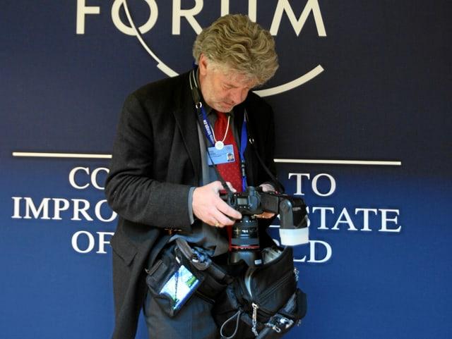 Andy Mettler é dapli onns da la partida al WEF.