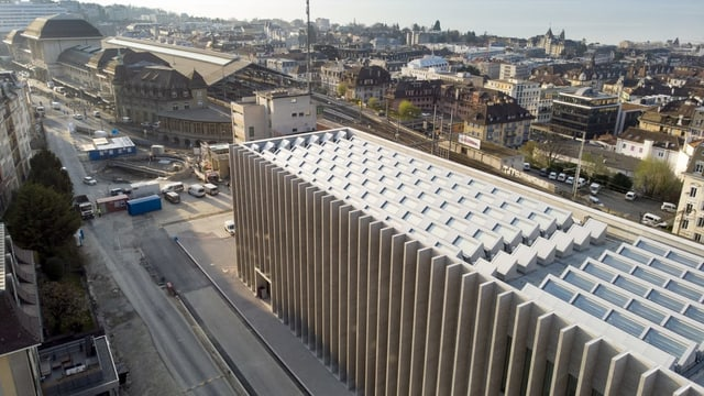 MUSEE DES BEAUX-ARTS LAUSANNE von oben.