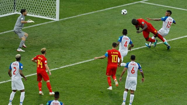 Romelu Lukaku tar il gol cun il chau cunter il Panama.