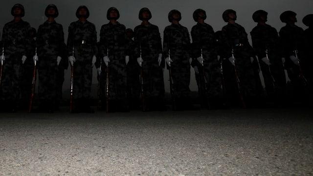 Soldaten in Peking.