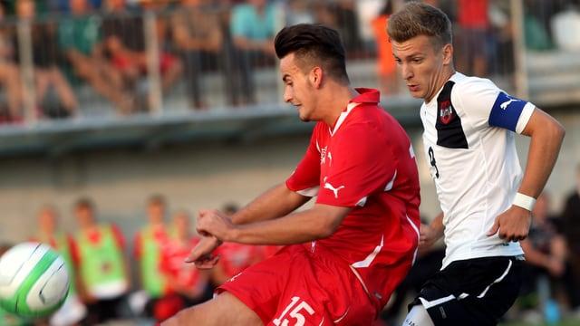U17-Nati-Verteidiger Alban Selmanaj beim TOTO Cup gegen Österreich.