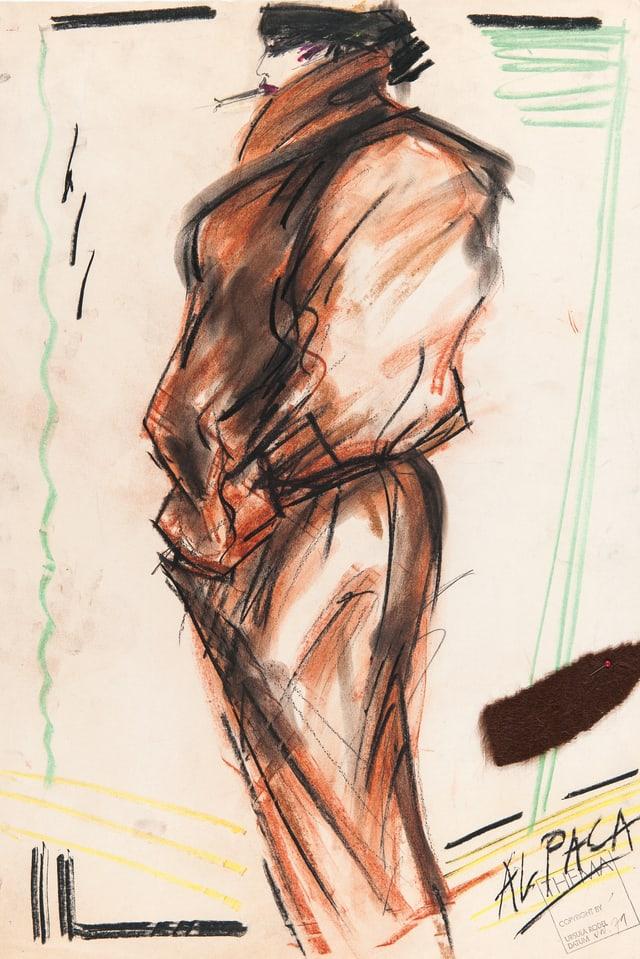 Eine Zeichnung eines Overalls.