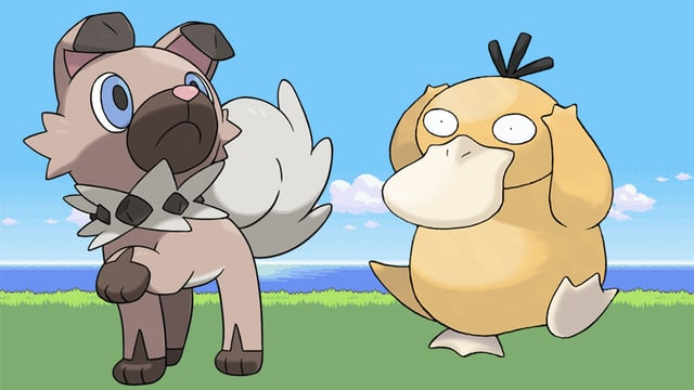Zwei Pokémon-Figuren.