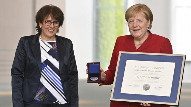 Ute mit Kanzlerin Angela Merkel
