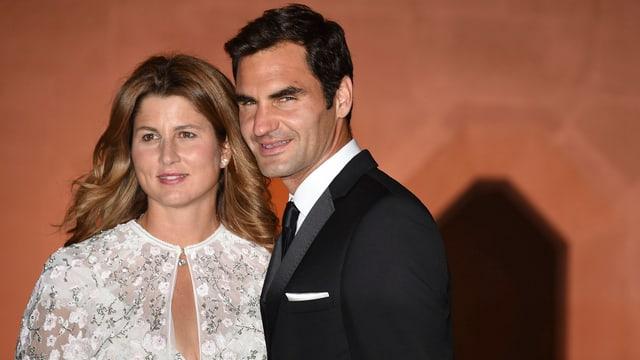 Ehefrau Mirka war auch am traditionellen Champions Dinner an Roger Federers Seite.