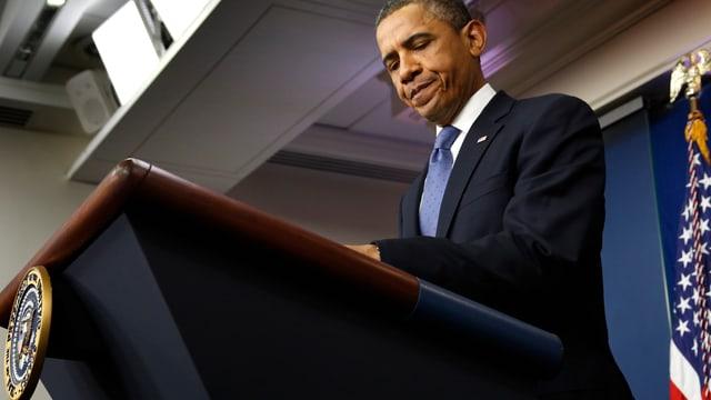 US-Präsident am Rednerpult