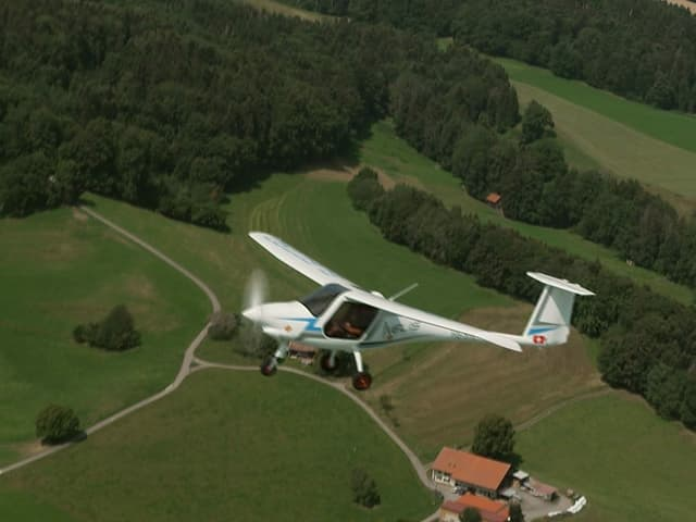 Elektroflieger in der Luft