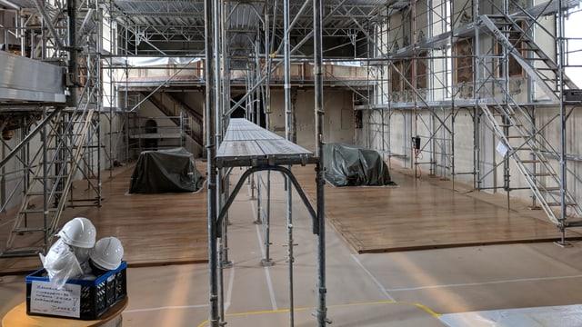 Renovierungsarbeiten in der Kirche Therwil.