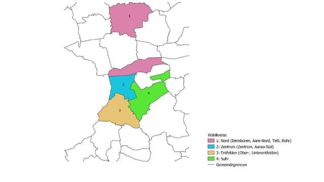Karte der Wahlkreise