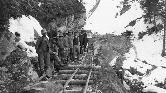 November 1908: las lavurs en il tunnel dal Tasna han cumenzà.