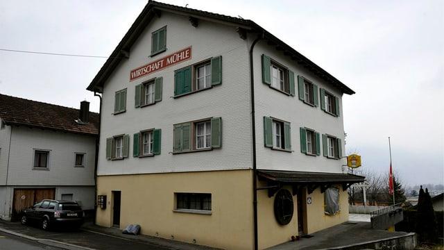 Das Restaurat «Zur Mühle» in Schattdorf wo der Wirt erstochen aufgefunden wurde.