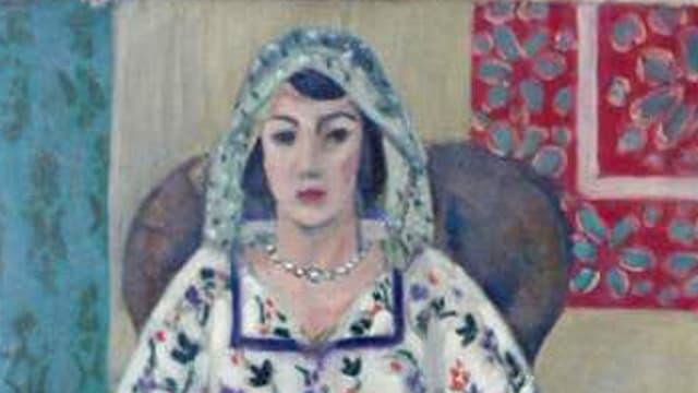 Brustausschnitt der «Sitzenden Frau» von Matisse
