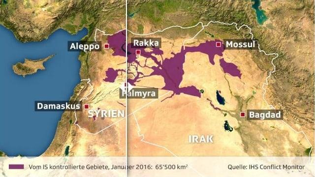 Die Gebietsverluste des IS