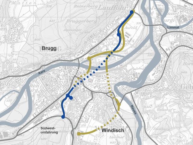 Karte von Brugg.