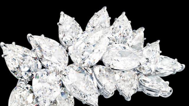 Brosche aus Juwelen