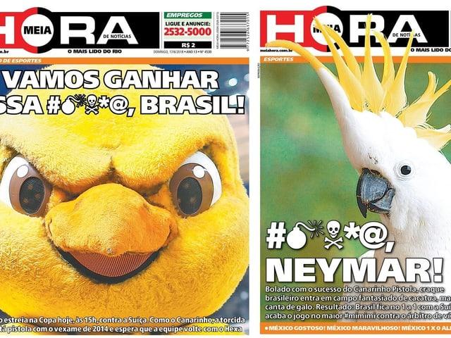 Die Titelseiten bei Meia Hora.