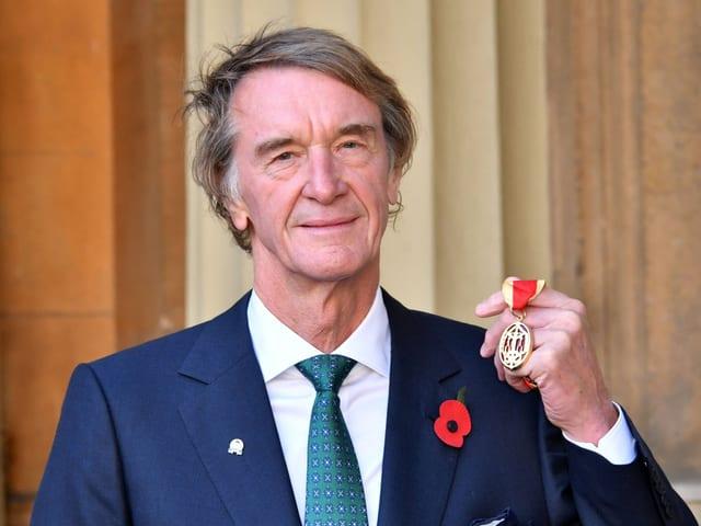 Sir Jim Ratcliffe, der neue Sponsor des Team Sky.