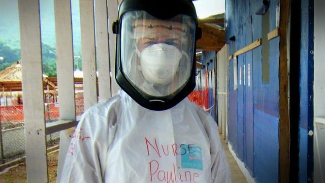 Pauline Cafferkey während ihres EInsatzes in Sierra Leone