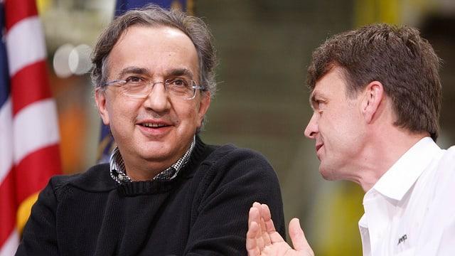 Sergio Marchionne und Nachfolger Mike Manley.