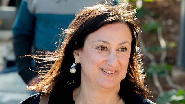 Die ermordete Journalistin am 4. April 2016. Sie starb am 16. Oktober 2017 durch eine Autobombe in Mosta.