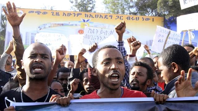 Demonstrants africans.