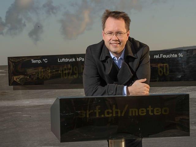 Christoph Siegrist auf dem Meteo-Dach