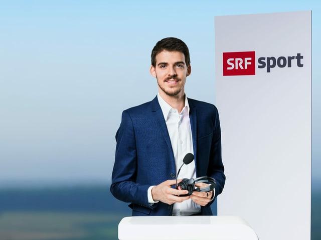 Der neue Mann im SRF-Kommentatoren-Team im Radsport.