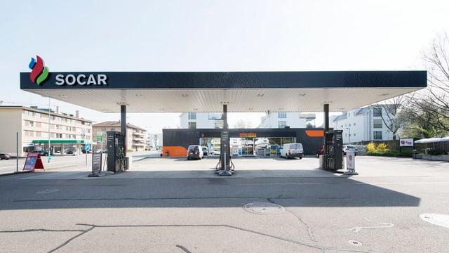 Eine der 170 SOCAR-Tankstellen in der Schweiz.